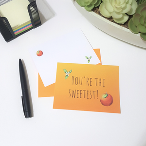 Gratitude Note Cards - Craving Citrus (Set of 4)
