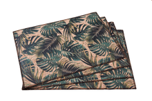 Load image into Gallery viewer, palm leaves placemats made of eco-friendly cork fabric