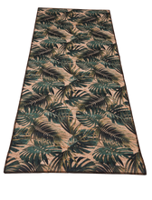 Load image into Gallery viewer, palm leaves mini table runner made of eco-friendly cork fabric