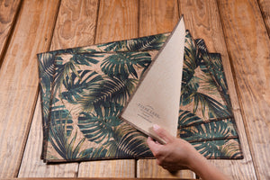 palm leaves placemats made of eco-friendly cork fabric