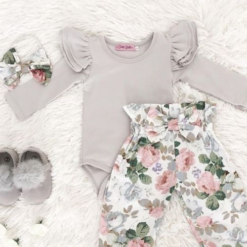 Gentle Flower Bodysuit Set