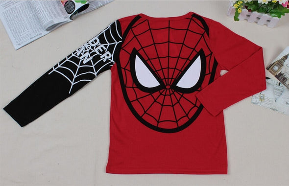 Cartoon Spider man Long Sleeve T-shirt