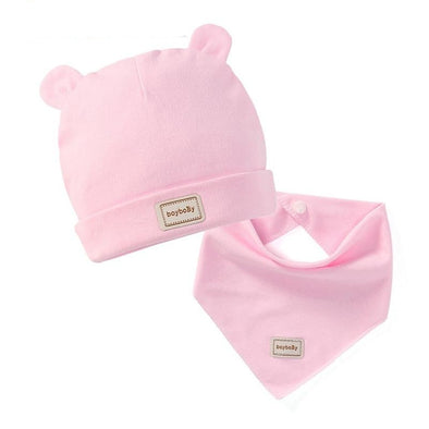 Baby Cute Rabbit Ears Cap Bib Sets