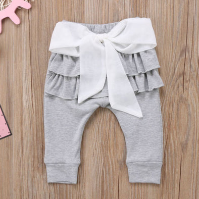 Ruffles Long Pants Casual Bottoms