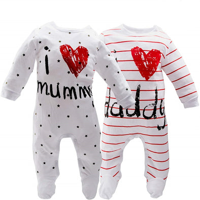"""I LOVE Daddy Mummy "" One Pieces"