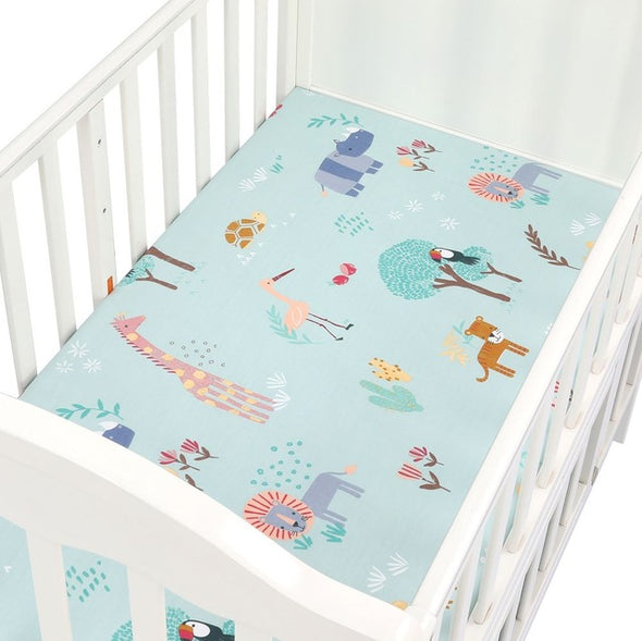 Breathable Cotton Crib Fitted Sheet