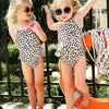 Ruffles Sleeveless Leopard Print One Piece