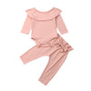 Baby Girl Ruffle Bodysuit Romper Top 2Pcs