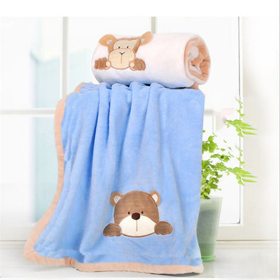 Super Soft Coral Fleece Baby Blanket