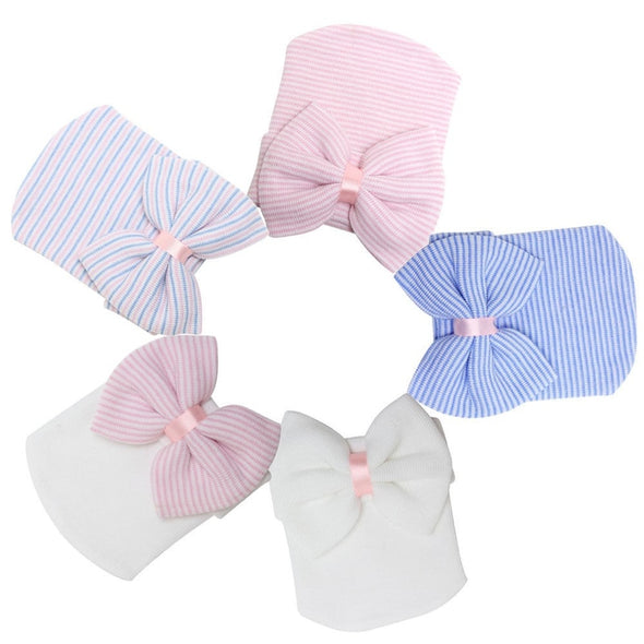 Baby Warm Striped Girls Caps