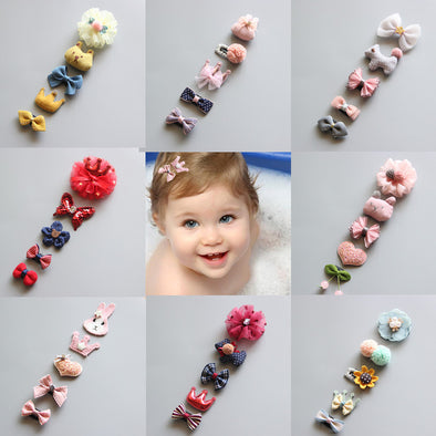 Baby Hair clip Set 5Pcs/Set