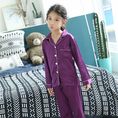Long Sleeve 2 Pieces Tops+Pants Sleepwear Pajama