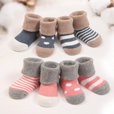 Soft Baby Girls Socks 4pairs