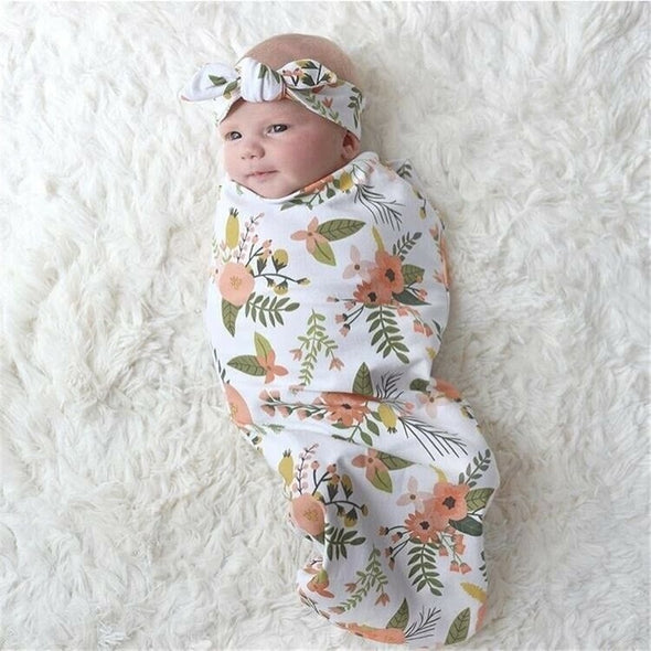 Baby Girl Floral Swaddle