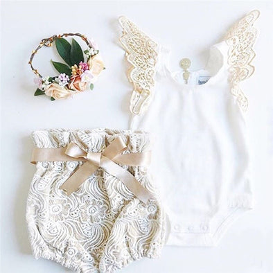 Fly Sleeve White Bodysuit Tops