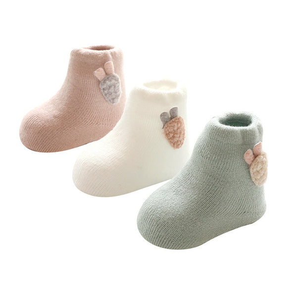 3 Pairs Winter Baby Socks For Girls