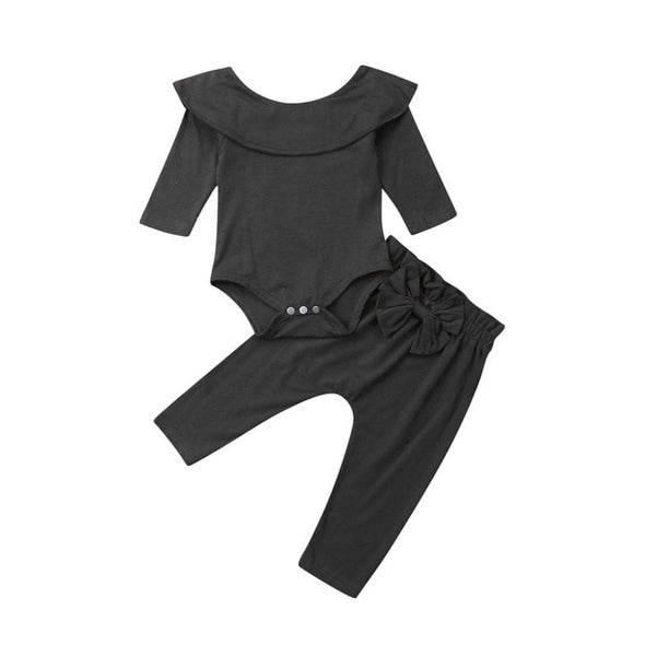 Baby Girls Ruffle Bodysuit 2PCS