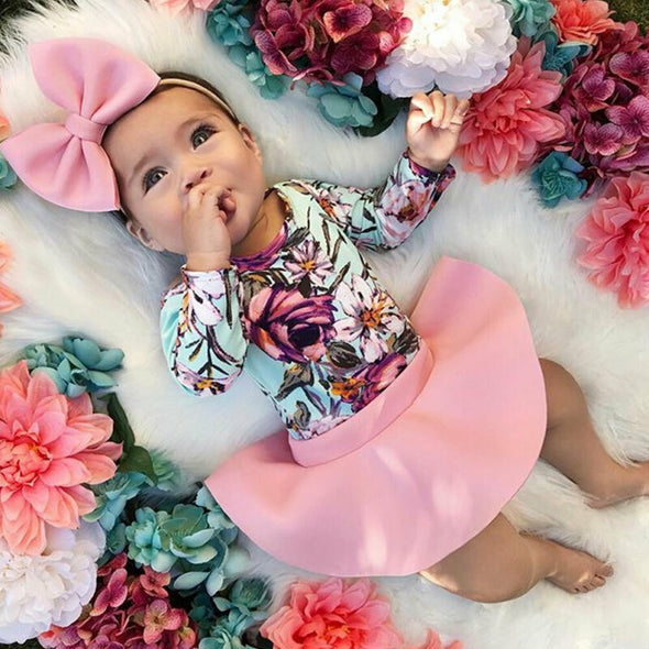 Floral Long Sleeve Bodysuits Tops