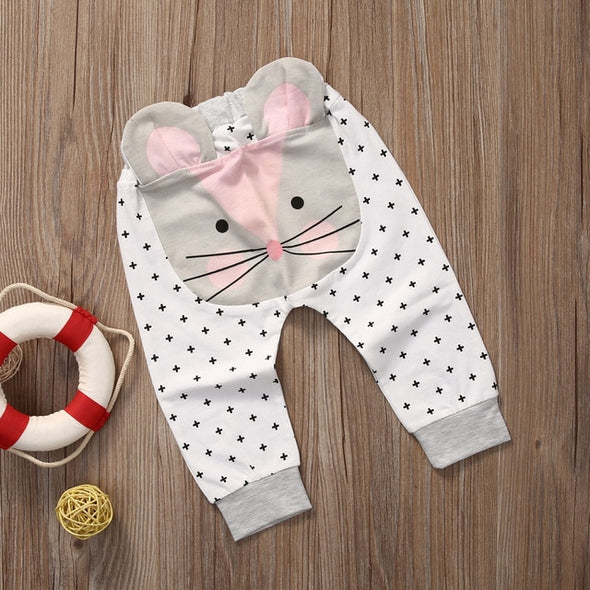 Baby Girls Cartoon Casual Bottoms