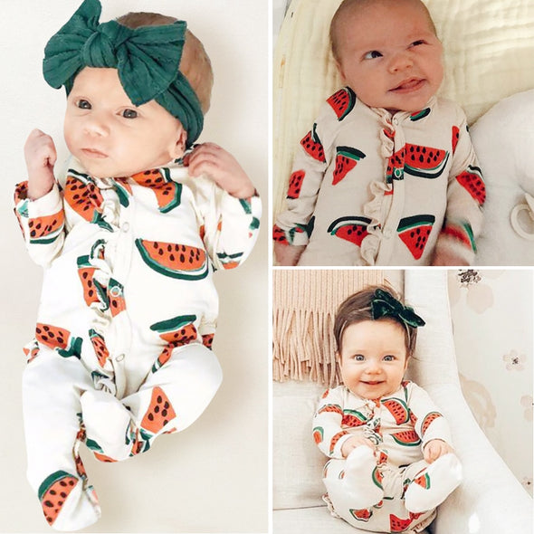 Watermelon Print Romper One Pieces