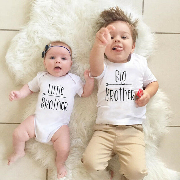 """Cotton Little Big Brother"" Short Sleeve Bodysuit"
