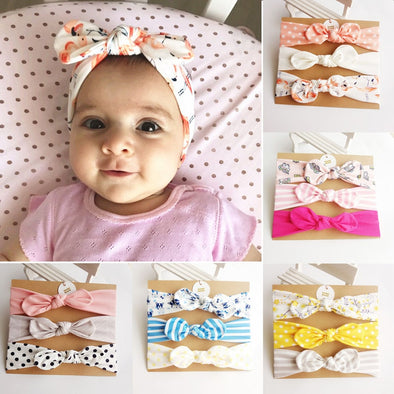 Rabbit Ear Baby Headband 3Pcs