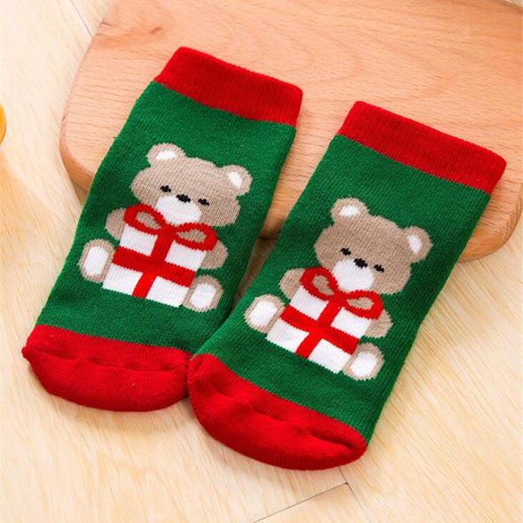 Santa Claus Christmas Bear Boys Socks