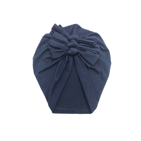 Bow knot Print Cotton Stretchy Turban Headband