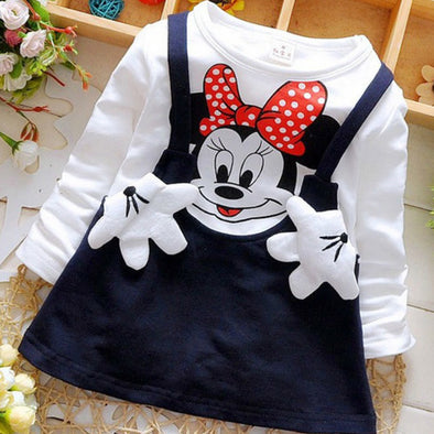 Baby Girls Cartoon Long Sleeves Dress