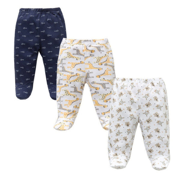 Footed Baby Pants Casual Bottom 3PCS