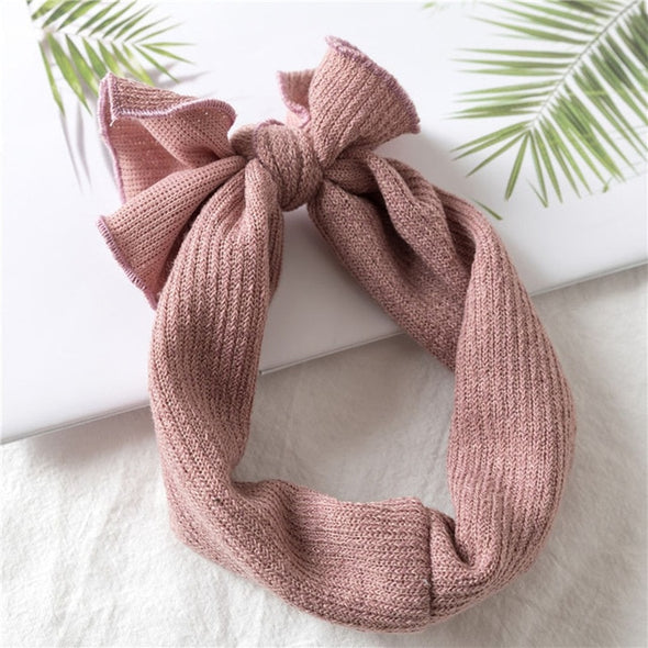 Girls Twisted Knotted Soft Elastic Headbands