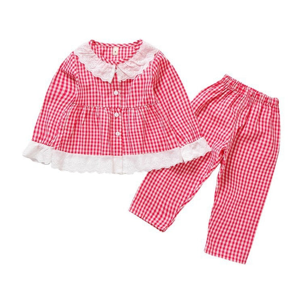 Baby Girl Long Sleeve Cotton Pajamas