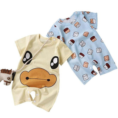 Baby Cotton Onesies Short Sleeves Pajamas