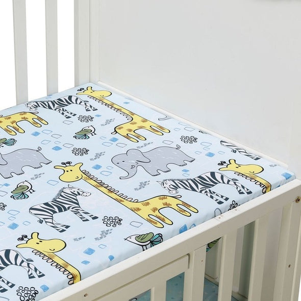 Elephant Dinosaur Fitted Crib Sheet