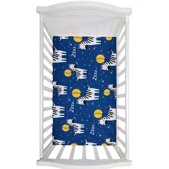 Cartoon Print Crib Fitted Sheets