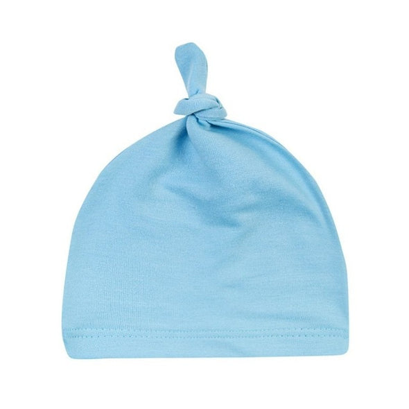 Baby Cotton Knot Beanies Girls Sleep Caps
