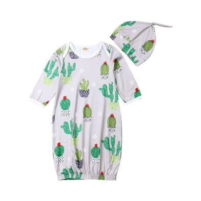 Baby Boy Cactus Knotted Gowns