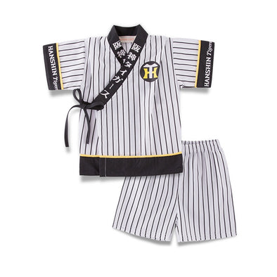 Boys Short Sleeve Striped Kimono Set