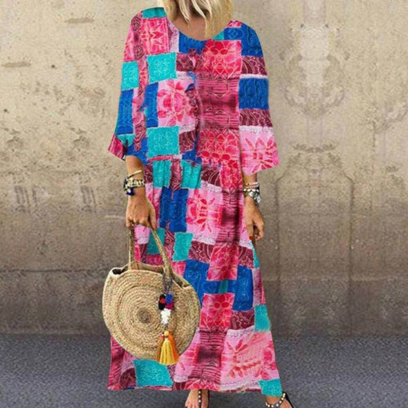 Indie Style Maxi Dress
