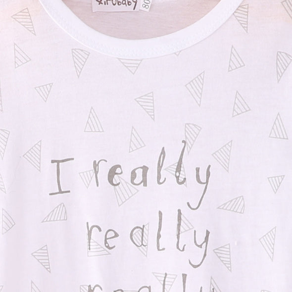 """I love Mummy/Daddy"" Printed One Pieces"