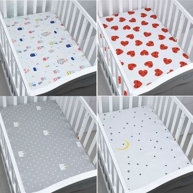 Organic Cotton Fitted Baby Crib Sheet