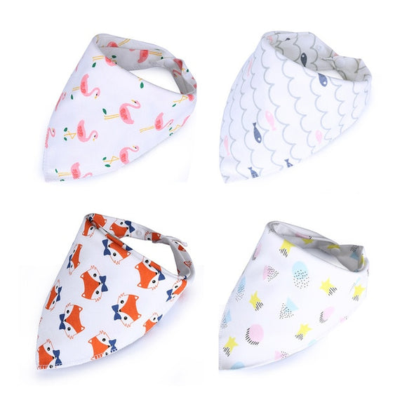 Baby Boy Double Layers Bib Sets 4 Pcs/set