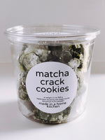 matcha crack cookies