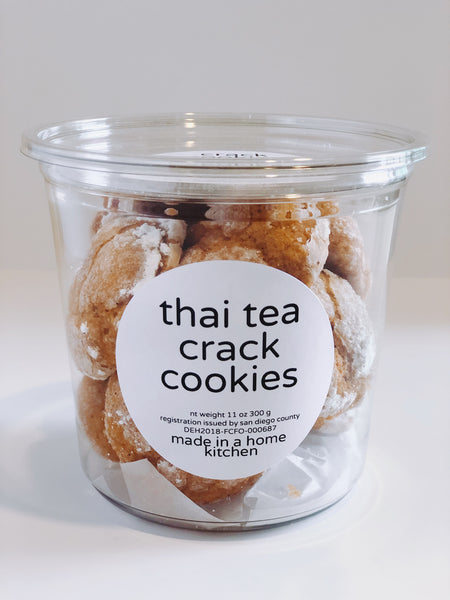 thai tea crack cookies