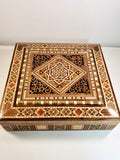 Hand Carved Mosaic Gift Box, Elegant Marquetry