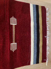Load image into Gallery viewer, Burgundy Handmade Runner Rug - Gift idea