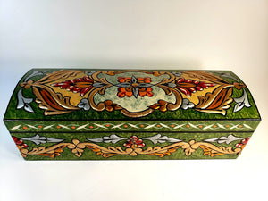 Green Medium Hand Painted 3D Jewelry Box - Gift idea