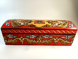 Red Medium Hand Painted 3D Jewelry Box - Gift idea