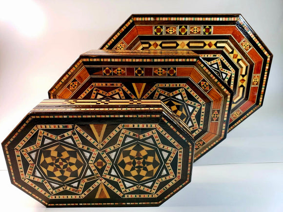 Set of  3 Syrian Mosaic Boxes - Gift idea