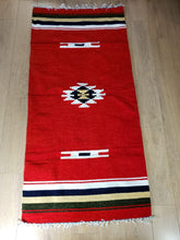 Load image into Gallery viewer, Boho Red Kilim Runner Rug - Gift idea